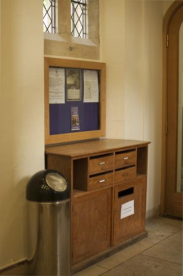 Library Deposit Box in the Lodge